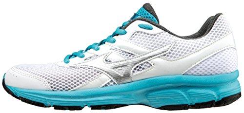 Mizuno Scarpa Running Sneaker Donna Spark Bianco Turchese 38