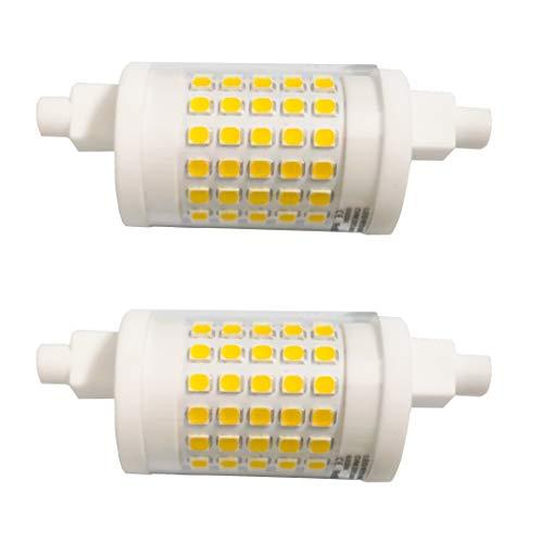 Akaiyal 10W R7s LED Lampe 78MM Dimmbar Kaltweiß 6000K AC220-240V Doppel Brenner-Enden J78 Birne 360 Grad Keramik Leuchtmittel 2-Stück MEHRWEG