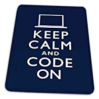 マウスパッド ゲーミングマウスパッド-落ち着いて、コードをブルーユーモアに滑り止め デスクマット 水洗い 25x30cm
