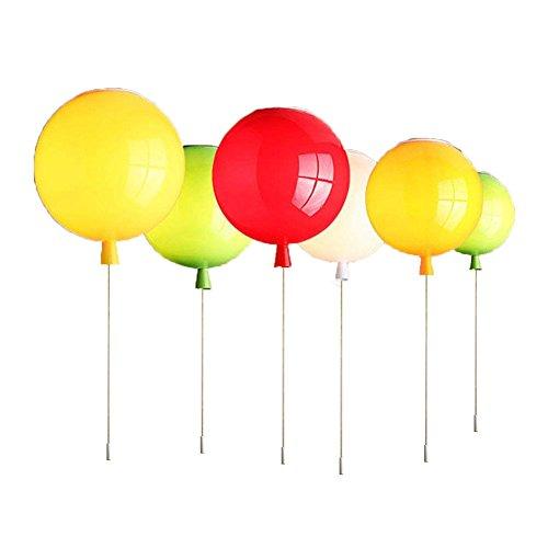 Farbe Hängeleuchte Deckenleuchte Moderne LED Pendelleuchte Ballon Schlafzimmer Licht Kinderzimmer Kindergarten Mode Dekoration Ø20 CM(Weiß)
