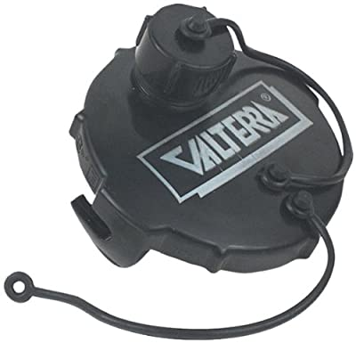 """Valterra Black 3"""" T1020-1 Waste Valve 3"""" with Capped 3/4"""" GHT, Black"""