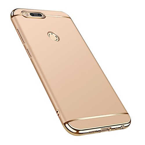 Caler ® Funda Compatible/Reemplazo para Xiaomi Mi A1 / 5X Funda, Carcasa rígida Antigolpes Funda PC Ultra Slim 3 en 1 antigolpes Carcasa rígida Bumper Cover (Oro)