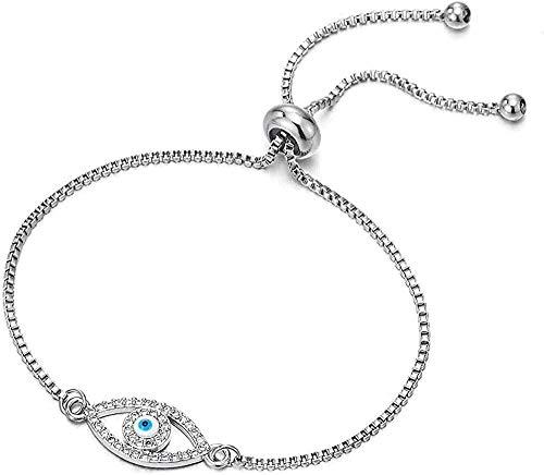 ZGYFJCH Co.,ltd Collar de Pulsera para Mujer Fabricado en Acero Inoxidable con eslabones de Cadena con protección de circonita Ajustable