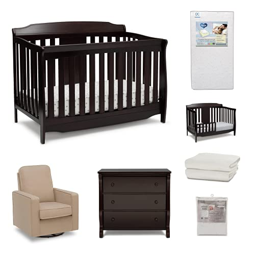 Product Image of the Delta Children Archer 7-Piece Baby Nursery Furniture Set – Includes:...