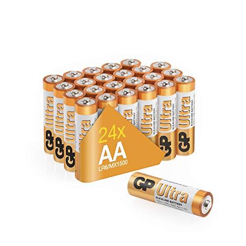 Pilas AA alcalinas Ultra, 24 unidades, de la marca GP