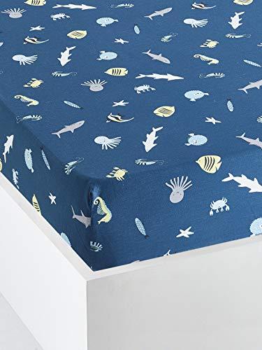 Vertbaudet Vertbaudet Vertbaudrap-Kinder-Schutzhülle, 90 x 200 cm, Marineblau