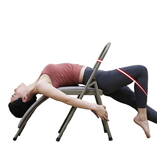 XWJJ Yoga Stuhl Iyengar Yoga Stuhl Stellungen Assistance Klappbar Multifunktions Iyengar-Hilfsstuhl,Für Professionelles Yoga Gebrauch Für Blut-Zirkulation/Fördert Den Schlaf,A