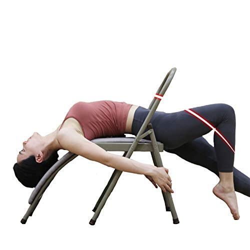 XWJJ Silla de yoga Iyengar, plegable, multifunción, para yoga, uso profesional, para la circulación sanguínea, promueve el sueño,