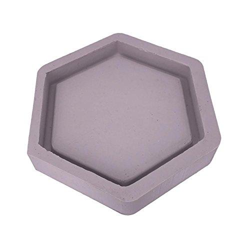 Gereton Hexagone En Forme De Moule En Silicone Ciment Flowerpot Moules Décoration de La Maison Béton Planteur Palette Couleur Aléatoire