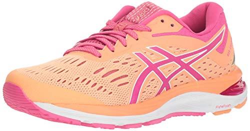 ASICS Gel-Cumulus 20 Women's Running Shoes, Mojave/Fuschia Purple, 8 M US