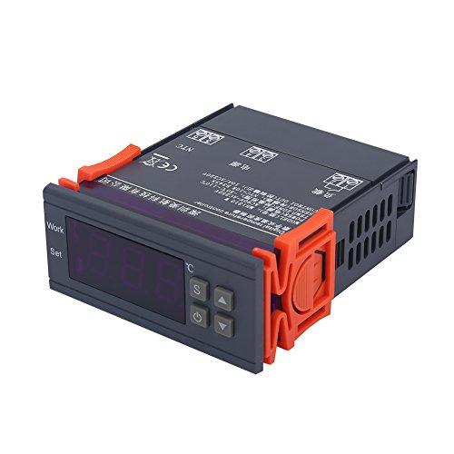 Mini digitale temperatuurregelaar thermostaat 220V 10A verwarming koeling dubbele modi met LCD-scherm, geschikt voor koelkasten, boerderijen, wetenschappelijke laboratoria, enz