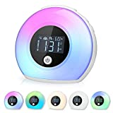Wake Up Light Alarm Clock for Bedrooms, Night Light Kids Alarm Clock