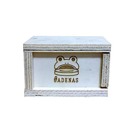 CADENAS - Juego de la Rana/Juego del Sapo: 10 Fichas de Acero con Caja de Madera.