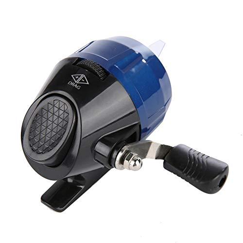 Wosune Rueda de Pesca Carrete de Pesca Spincast portátil Tirachinas Tiro al Aire Libre Arpón Dardo Carrete(Blue)