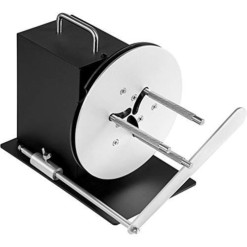 BestEquip Label Rewinder, 100mm Width with Paper Guide Label Rewinder Machine, Bi-Directional Rewind 190mm Max Diameter Rewinding Machine Synchronize with Printers for Industries