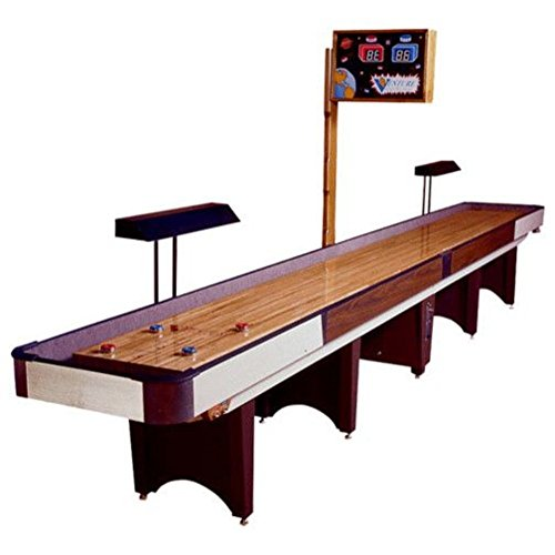 Classic Coin-Op Shuffleboard Table – Gaming Board with Playing Accessories – Gameroom Furniture – Wood Game Table - 20' & Fusion Maple