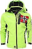 Geographical Norway - Giacca tecnica softshell da uomo, taglia fino a 5XL verde XL