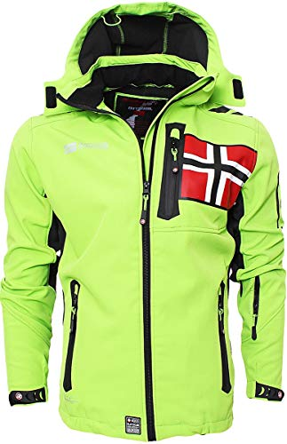 Geographical Norway Herren Softshell Jacke Funktions Outdoor, Grün - L
