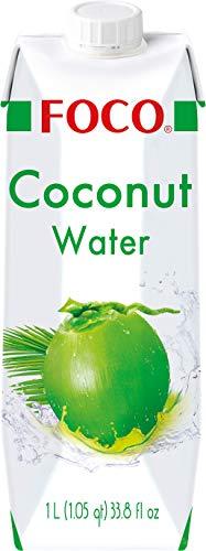 Foco Kokosnusswasser, exotisches Trendgetränk, erfrischender Durstlöscher, Sportgetränk, kalorienarm, 100 {3024bef4a71d12c498340ec8fac7fc093a4a9ad6b2b55b36f529c953fbbf06ee} vegan, (1 x 1000 ml)