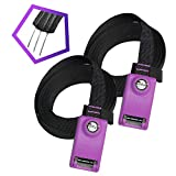 ASMSW Lockable Tie Down Straps- Car Roof Rack Straps with 3 Stainless Steel Cables for Surfboard Kayak or Cargo Lashing-Strong Enough to Hold Anything on Your Car Roof Rack or Trailer-3M×25MM