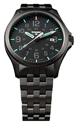 Traser H3 P67 Officer Pro Gunmetal Black Tactical Watch Militar Reloj de pulsera Acero