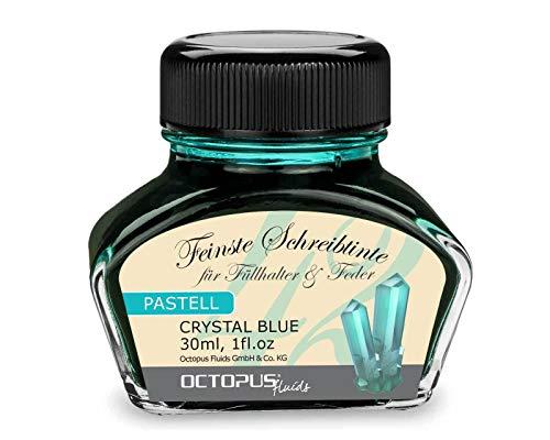 Penna stilografica inchiostro blu pastello Crystal Blue  30 ml, Inchiostro da scrittura, inchiostro per calligrafia