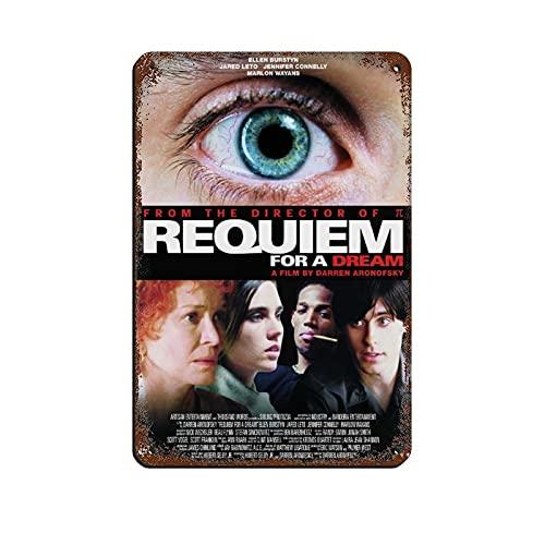 Poster rétro Acteur Jennifer Connelly Requiem for A Dream en métal - Art chic rétro - Peinture sur fer - Bar - Cave - Café familial - Garage - Décoration murale - 20 x 30 cm