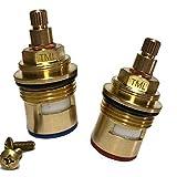 Par de cartuchos de grifo de válvula de cuarto de vuelta compatible con Hudson Reed SPR03