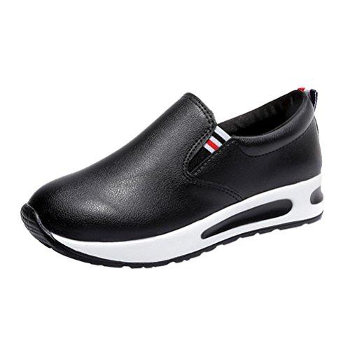 Zapatillas de Cuero para Mujer Otoño 2018 PAOLIAN Zapatos de Platafor