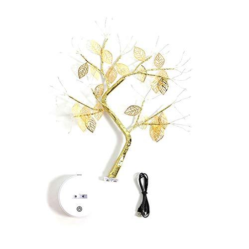 MLZWS Luz Nocturna LED Mini Luces Luminarios Luces de árbol de Cobre Guirnalda Lámpara Dormitorio Dormitorio Dormitorio Lámpara de Mesa de Noche