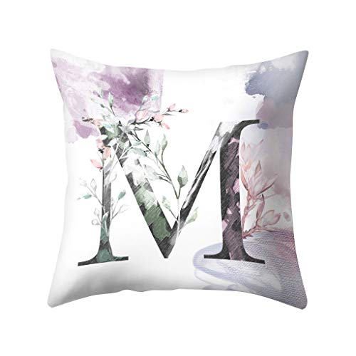 jieGorge Letters Pattern Pillow Case Sofa Car Cushion Cover Throw Pillow Home Decoration, Home Decor Sales,for Halloween Day (M)