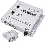 Audiobank AP15 -1/2 Din Car Audio Digital Bass Processor, Sound Restoration & Crossover for Car Subwoofer with Bass Knob/Input Level: 15V RMS & Output Level: 13.5V Peak -2nd Gen