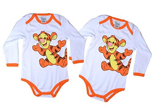 2er Pack Tiger Disney Baby Body Langarm Unisex Gr. 86/92 Baby Body Babykleidung mädchen Bodys Babybody wickelbody Baby Erstausstattung Baby mädchen Baby Junge Baby Geschenke Geburt