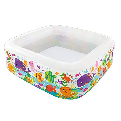 TongNS1 Piscina Hinchable Piscina de Acuario, Piscina Inflable Cuadrada para bebés, Piscina Inflable Plegable de PVC portátil, Juguetes de jardín Familiar 159 * 159 * 50 CM