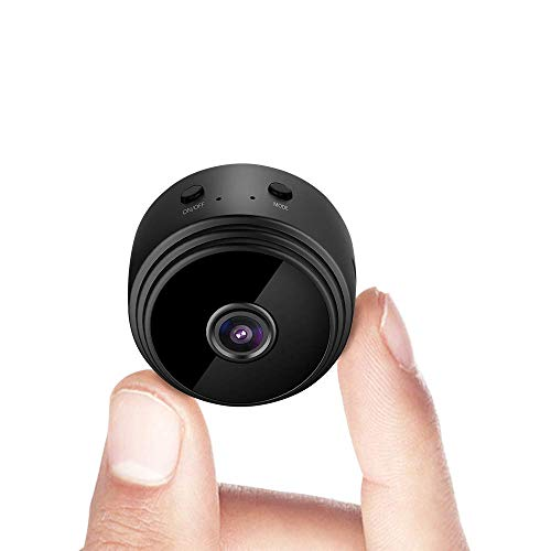 Mini Spy Hidden Camera WiFi Wireless Small Video Camera Full HD 1080P Night Vision Motion Detection Security Nanny Surveillance Cam Covert Cameras With App For Home Indoor Outdoor with a 32G SD Card