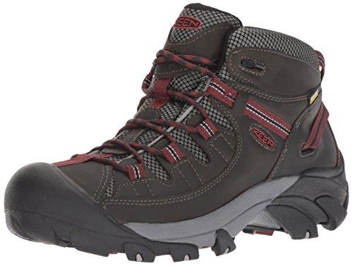 KEEN Men's Targhee II Mid Waterproof Hiking Boot, Alcatraz/Fired Brick, 10 M US
