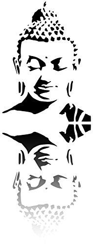 Buddha Mylar-Schablone für Heimdekoration, 190 Mikron (2 x A7, 74 x 105 mm)