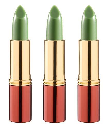 IKOS Lippenstift 3er Set: der denkende Lippenstift DL2 grün – nachtrosa