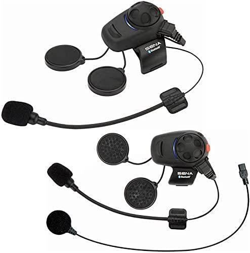 Sena SMH5D-UNIV Kit de auriculares e intercomunicador Bluetooth para motos y scooters con micrófono universal, paquete doble, Dual Pack
