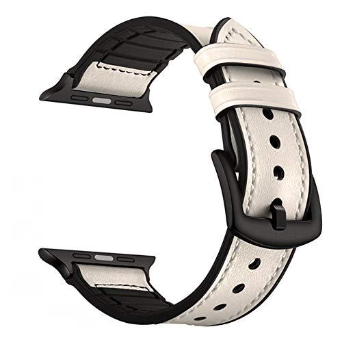 LeekaoWee Cinturino Compatibile con Apple Watch 42mm 44mm, Pelle Cinturino di Ricambio Compatibile con iWatch Series 5 4 3 2 1
