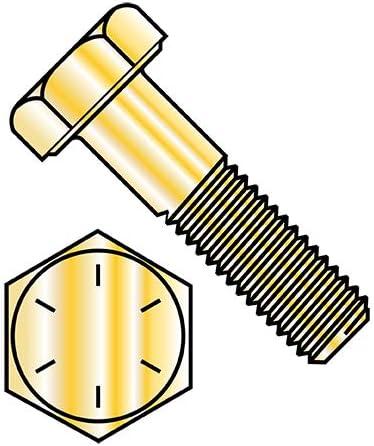 3 4-16X8 Discount is also underway Fine Max 68% OFF Thread Hex Cap Screw Box 8 Yellow Grade Zinc Qty