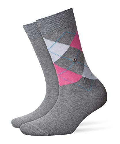 Burlington Damen Socken Everyday - Baumwollmischung, 2 Paar, Grau (Light Grey 3401), 36-41