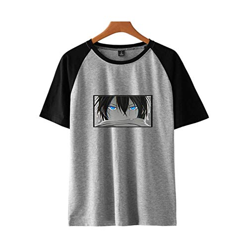 BBCS T-Shirts Mit Noragami-Print Damen/Herren Harajuku Kurzarm-T-Shirts Koreanische Lose Oberteile Bei Flut Spleißen Von T-Shirt-Kleidung
