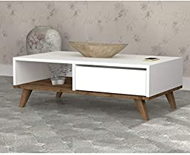 Mira- Coffee Table with one Drawer and Storage Shelf for Living Room, Cocktail Table, TV Table
