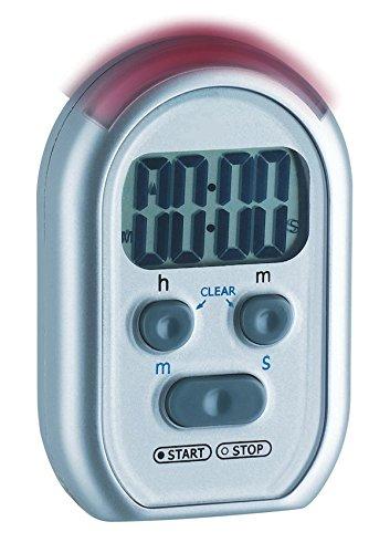 TFA Dostmann Shake Awake digitaler Timer und Stoppuhr, 38.2019, mit Alarmton/Lichtsignal/Vibrationsalarm