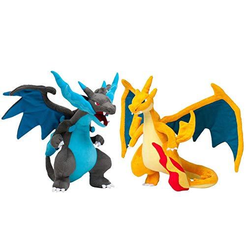 yunding Pokemon Mega Charizard X Mega Peluches 23Cm, Peluche Evolution Animal para Niños