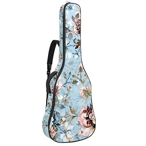 Bennigiry Acuarela Flores Ramo de Rosas Bolsa de Guitarra Guitarra Acústica Gig Bag Guitarras Bolsa de Transporte para Guitarrista
