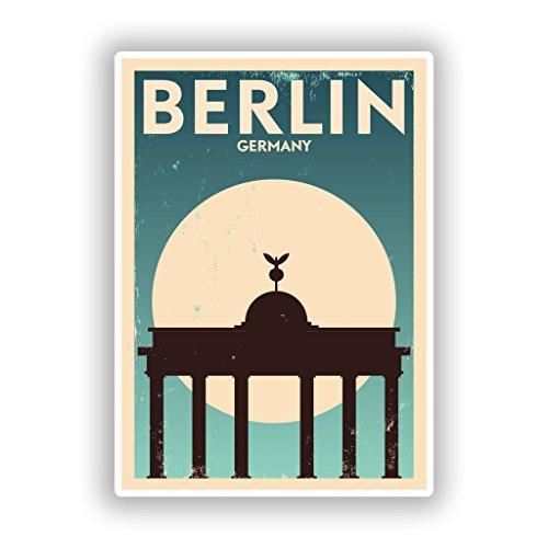 2x Berlin Germany Vinyl Aufkleber Reise Gepäck # 10130 - 10cm/101mm Wide