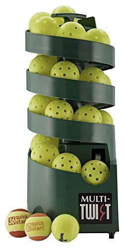 Sports Tutor Multi-Twist - Beginner Pickleball/Tennis Ball Tosser - Battery Powered