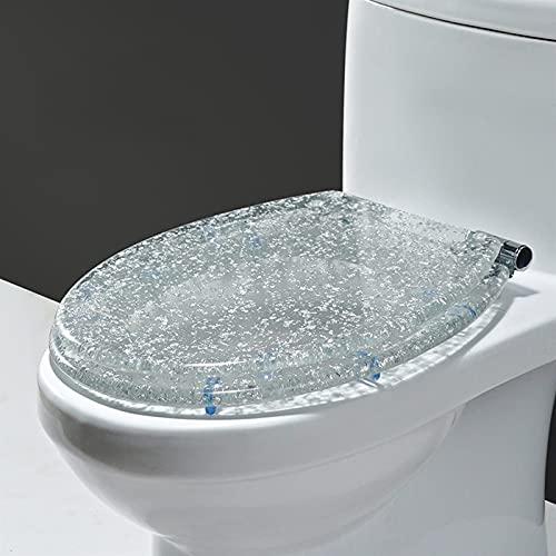 Mjukstängande Toalettsits, Robust Ureaformaldehydharts Antibakteriell Universal Toalettsits Med Rostfria Justerbara Gångjärn, Lämplig För O/V/U-toalett (Color : #7)